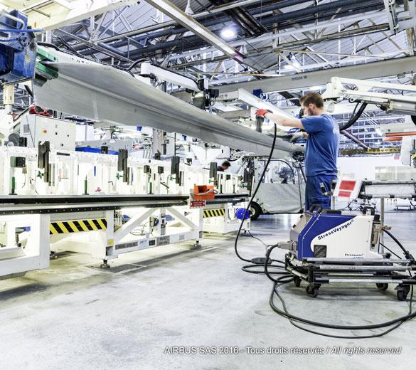 Aerospace peen forming equipment - STRESSVOYAGER UNS   SONATS