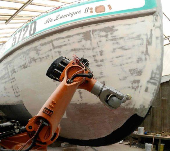 Sanding-robot-boat-shell | GEBE2