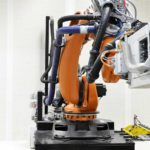 Robotic accoustic drilling of composite panels | GEBE2